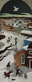 view Suburban Post in Winter (mural study, Freeport New York Post Office) digital asset number 1
