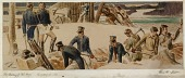 view The Building of Fort Meigs, 1813 (Mural Study, Perrysburg, Ohio Post Office) digital asset number 1