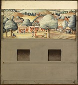 view The Cultivation of Raspberries (mural study, Hopkins, Minnesota Post Office) digital asset number 1