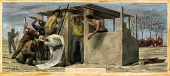 view Settlers in Collingsworth County (study for mural, Wellington, Texas Post Office) digital asset number 1