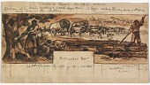 view The First Settlers (mural study, Shawano, Wisconsin Post Office) digital asset number 1