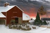 view Barnyard in Winter digital asset number 1