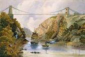 view The Avon Gorge and Clifton Suspension Bridge, Bristol, England digital asset number 1