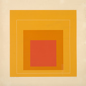 view Homage to the Square--White Line-Orange digital asset number 1