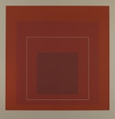 view Homage to the Square--White Line-Red digital asset number 1