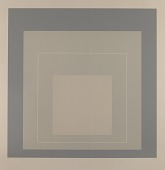 view Homage to the Square--White-Line-Grey digital asset number 1