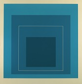 view Homage to the Square--White Line-Blue digital asset number 1