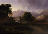 view Landscape with Stream and Mountains digital asset number 1