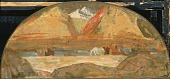 view Untitled (sketch for mural in Eastern Oregon) digital asset number 1