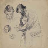 view Studies of Man, Child, and Infant digital asset number 1