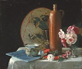 view Still Life with Fan and Roses digital asset number 1