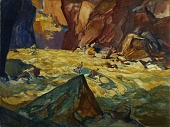 view Major Powell Descends the Colorado River through the Grand Canyon, 1869 digital asset number 1