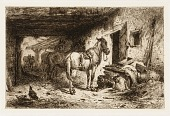 view Untitled (horses and stable yard) digital asset number 1