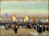 view Harbor Scene with Fishing Boats digital asset number 1