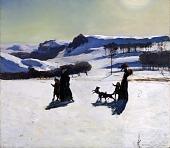 view Snow Fields (Winter in the Berkshires) digital asset number 1