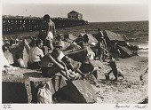 view Untitled--Sunbathers on Slabs of Stone at Beach, from the portfolio Photographs of New York digital asset number 1