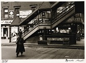 view Untitled--Man in Overcoat near Steps to El, from the portfolio Photographs of New York digital asset number 1
