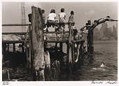 view Untitled--Children on Dock/Diving, from the portfolio Photographs of New York digital asset number 1