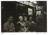 view Untitled--Subway, Row of Seated People, from the portfolio Photographs of New York digital asset number 1