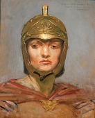 """view Study for Mural for Appellate Court Building, New York; """"Statute Law"""", Helmet for Figure of """"Force"""" digital asset number 1"""