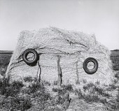 view Haystack with Tires, Johnson County, from the Kansas Documentary Survey Project digital asset number 1