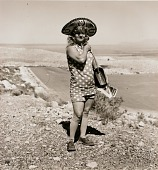 view Tourist lady, Highway 66, Meteor Crater, Arizona digital asset number 1