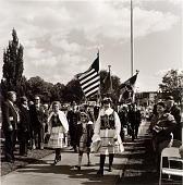 view Polish East Baltimoreans have honored General Pulaski by erecting a monument in Patterson Park. A commemorative service is held each October, with bands, speeches, and the laying of flowers at the foot of the monument digital asset number 1