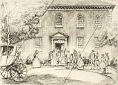"view Washington at Pohick Church (cancelled plate from the portfolio ""The Bicentennial Pageant of George Washington"") digital asset number 1"