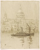 view Untitled (transfer drawing for Misty Day, Paul's Wharf, London) digital asset number 1