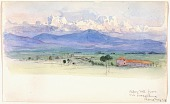 view Alban Mountains from Via Tuscolana, Rome digital asset number 1