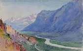 view The Rhone from the Path to Salvari (Switzerland) digital asset number 1