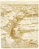 view Untitled (transfer drawing for Grand Canyon [no. 1]) digital asset number 1