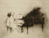 view Untitled (Two Children at Piano) digital asset number 1