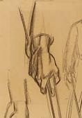 view Hand of Daniel Boone (mural study, Lexington, Kentucky Court Room) digital asset number 1