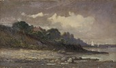 view Untitled (shoreline with sailboats and roof) digital asset number 1