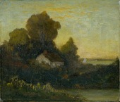 view Untitled (house in woods near lake) digital asset number 1
