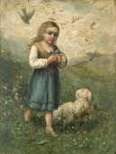 view Child with Birds and Dog digital asset number 1