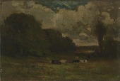 view Untitled (landscape with cows and trees) digital asset number 1