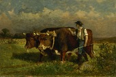 view Untitled (man with two oxen) digital asset number 1