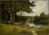 view Untitled (landscape, trees near river) digital asset number 1