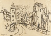 view Street Scene with Churches digital asset number 1
