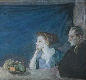 view Portrait of Mr. and Mrs. Atherton Curtis with Still Life digital asset number 1