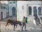view Street Scene, Tangier (Man Leading Calf) digital asset number 1
