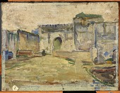 view Street Scene, Tangier (Crenelated Architecture) digital asset number 1