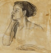 view Study for Portrait of Mrs. Atherton Curtis digital asset number 1