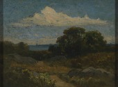 view Landscape (trees and rocks by lake) digital asset number 1