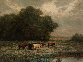 view Untitled (landscape with cattle grazing) digital asset number 1