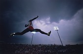 view Larry Myricks, Long Jumper, Indianapolis Invitational, from the series Shooting for the Gold digital asset number 1