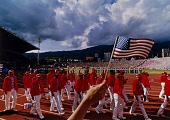 view U.S. Team, Opening Ceremonies, Pan-American Games, Caracas, Venezuela, from the series Shooting for the Gold digital asset number 1