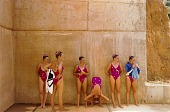 view U.S. Synchronized Swimming Team, Pan-American Games, Caracas, Venezuela, from the series Shooting for the Gold digital asset number 1